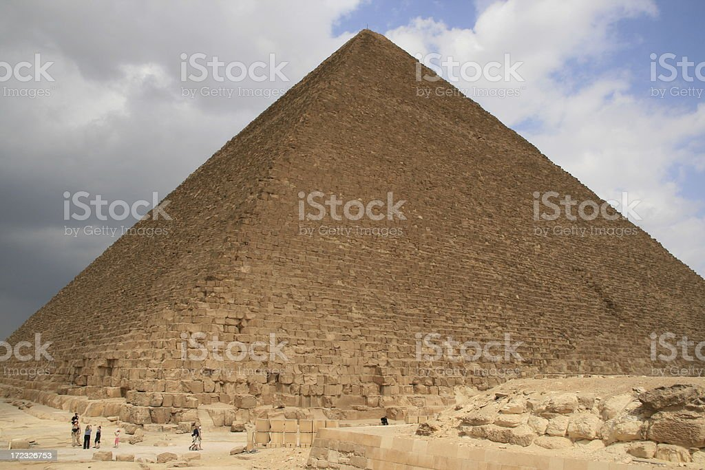 The Great Pyramid of Giza stock photo