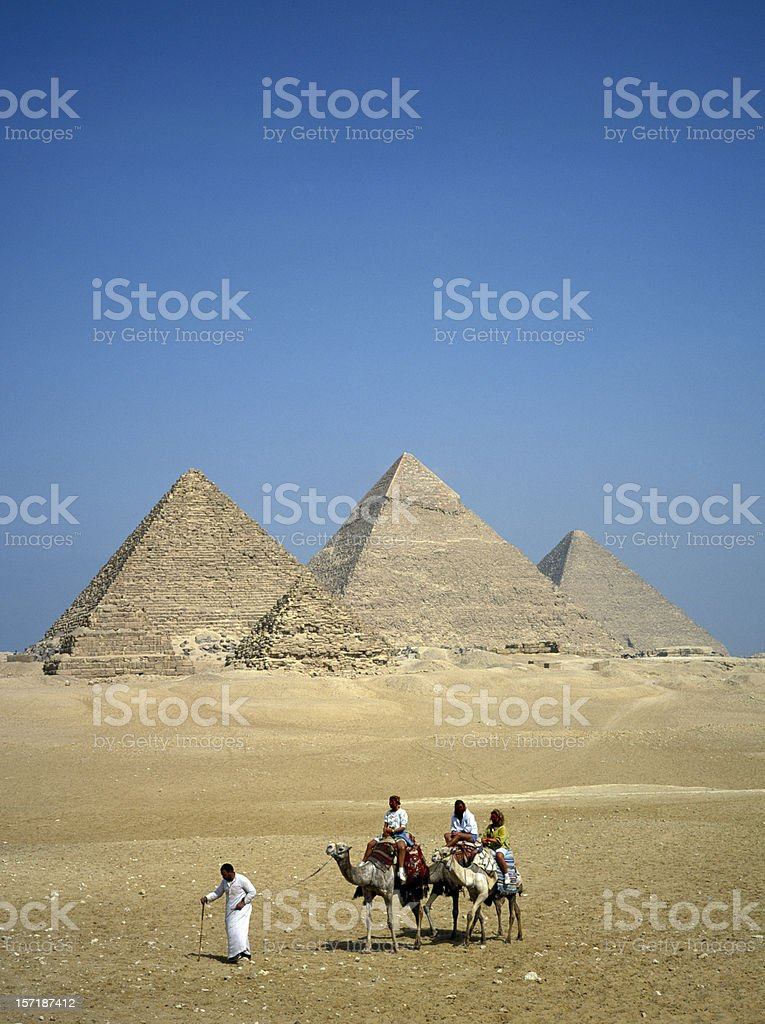 The Great Pyramids in Giza Eygpt stock photo