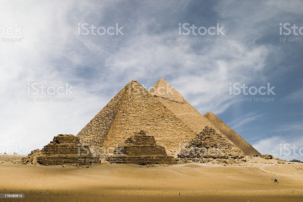 The great Pyramids of Egypt royalty-free stock photo