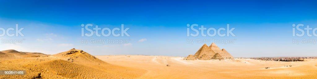 The Great Pyramids of Giza stock photo