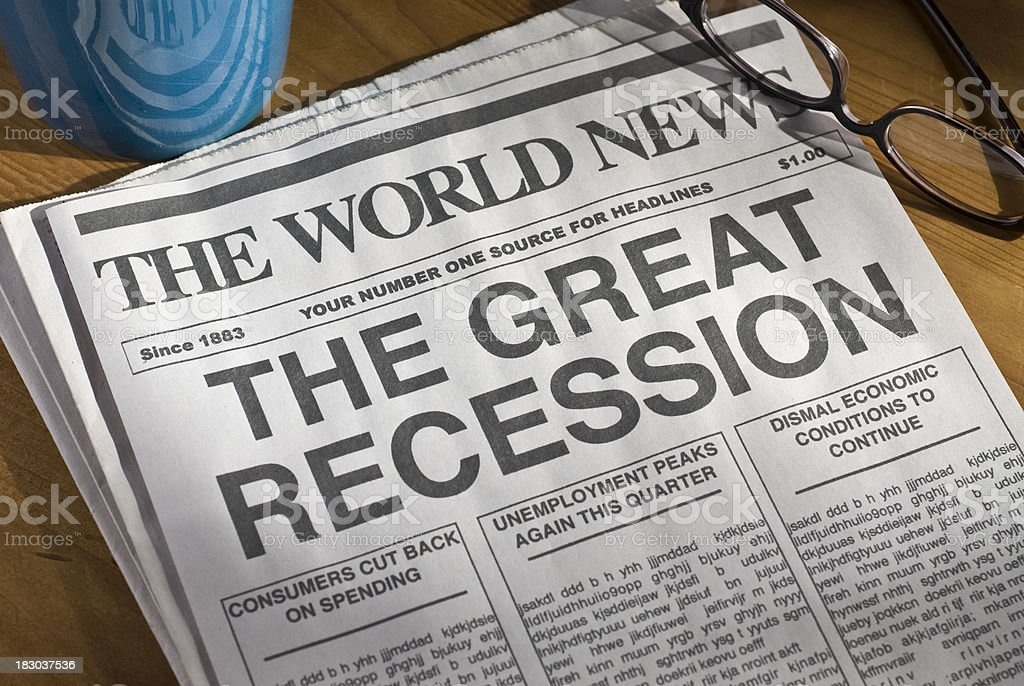 The Great Recession stock photo