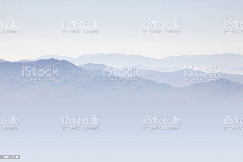 The Great Smokey Mountains royalty-free stock photo