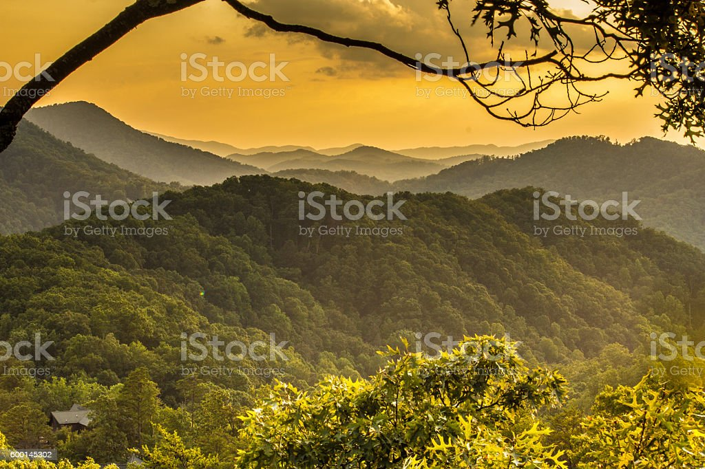 The Great Smoky Mountains Landscape stock photo