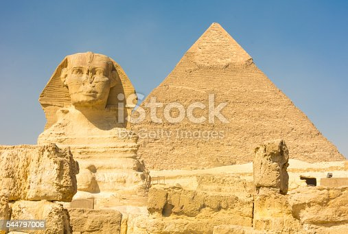istock The Great Sphinx and the Pyramid of Kufu, Giza, Egypt 544797006