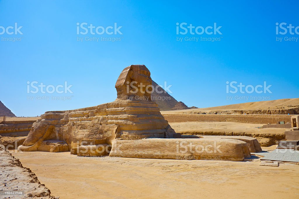 The great Sphinx of Giza royalty-free stock photo