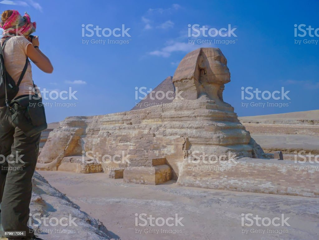 The Great Sphinx of Giza. stock photo