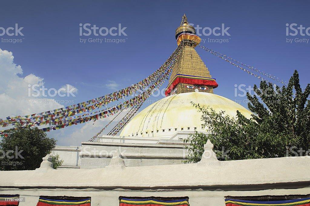 The great stupa at Boudhanath-Bodhnath. Kathmandu-Nepal. 0304 royalty-free stock photo