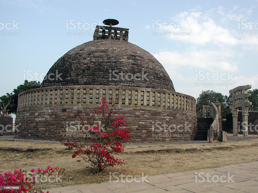 The Great Stupa at Sanchi royalty-free stock photo