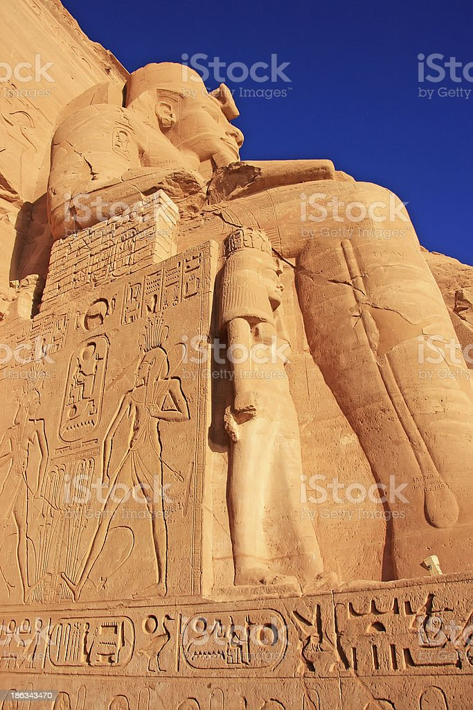 The Great temple of Abu Simbel, Nubia royalty-free stock photo