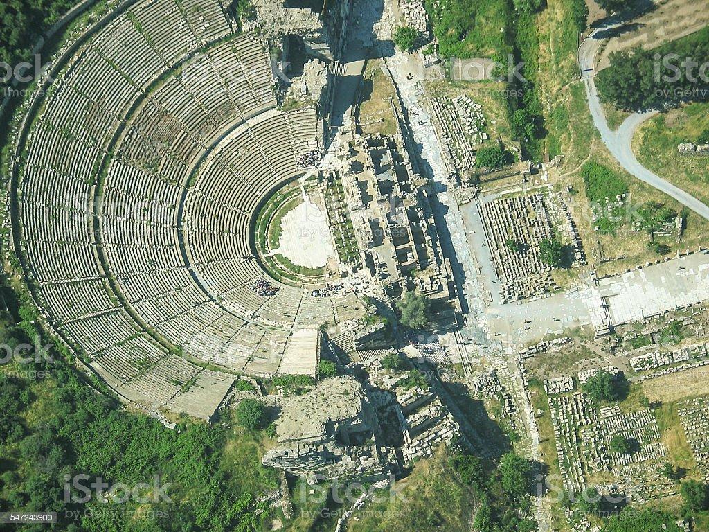 The Great Theatre of Ephesus stock photo