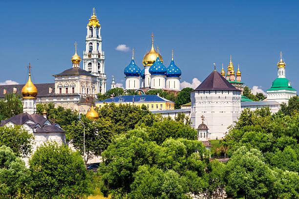 The great Trinity monastery in Sergiyev Posad near Moscow stock photo