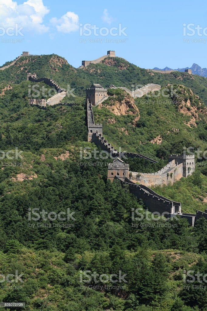 Die Große Mauer in China bei Jinshanling stock photo