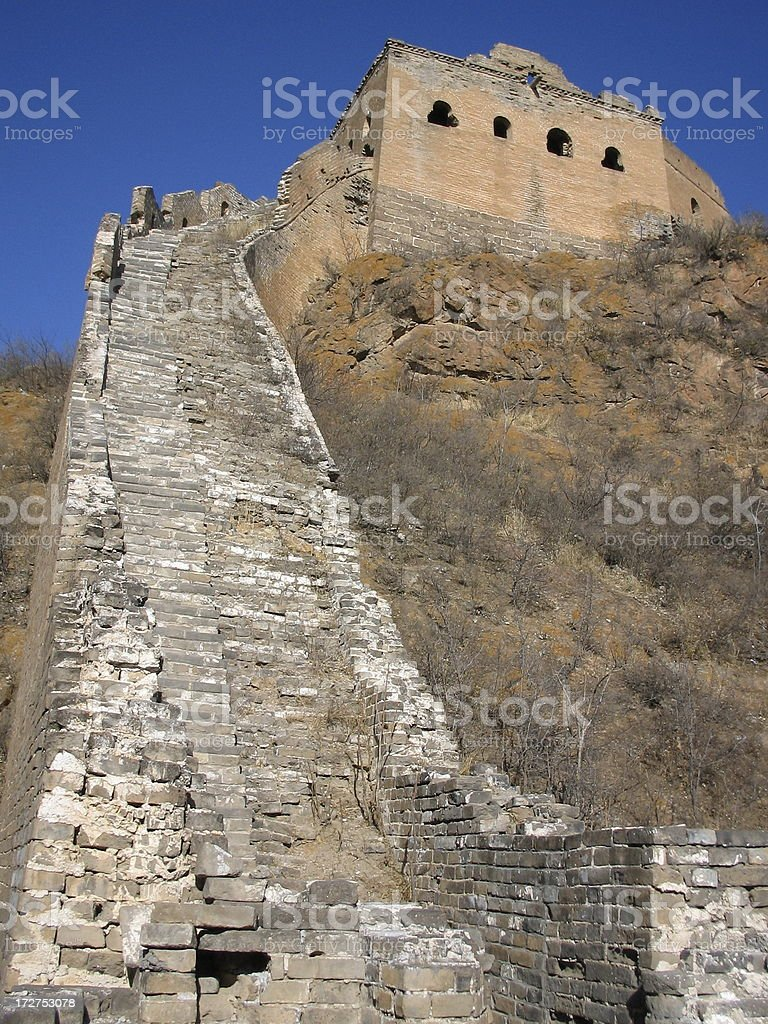 The Great Wall of China at Jinshangling royalty-free stock photo