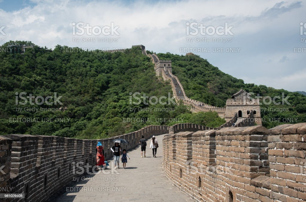 The Great Wall of China at Mutianyu Section outside Beijing stock photo
