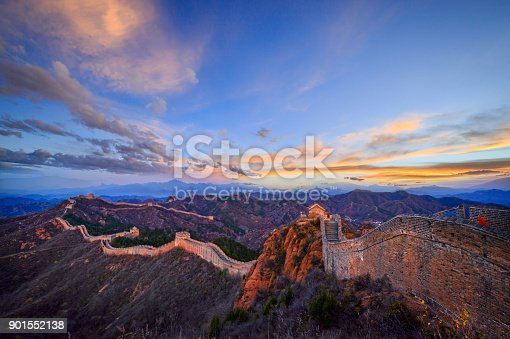 istock The great wall of China at sunset 901552138