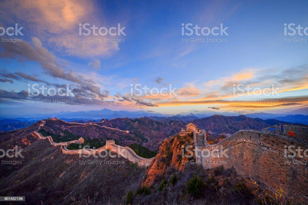Great Wall bei Sonnenuntergang – Foto