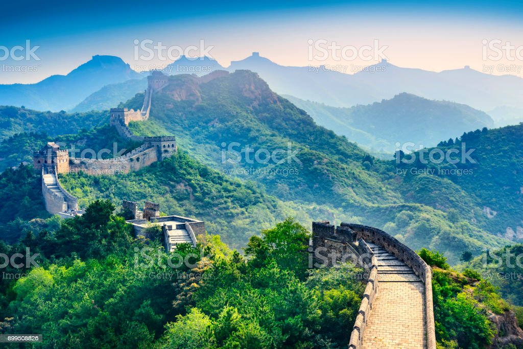 The Great Wall of China. stock photo
