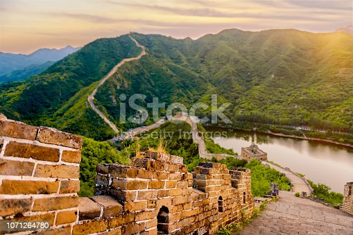 The great wall of China,Huanghua City Lakeside Great Wall ,Beijing china