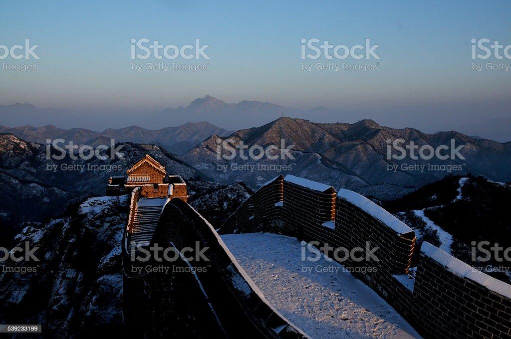 A Grande Muralha de Jinshanling foto royalty-free