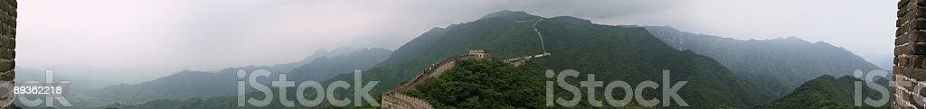 La gran muralla de Panorama 1 foto de stock libre de derechos