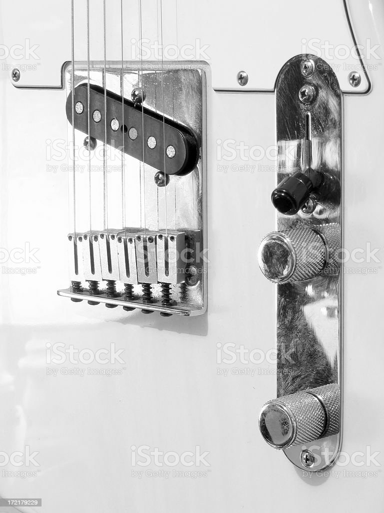 The great white guitar royalty-free stock photo