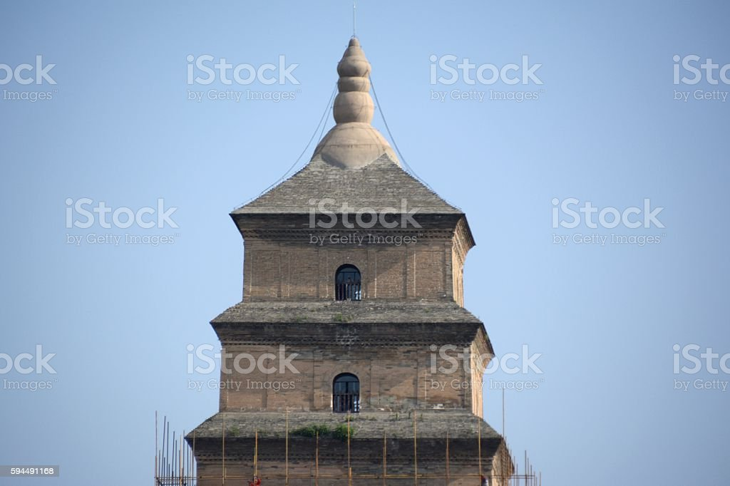The Great Wild Goose Pagoda in Xi'an, Shaanxi, China stock photo