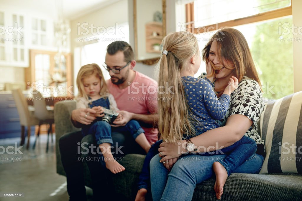 The greatest happiness is family happiness royalty-free stock photo