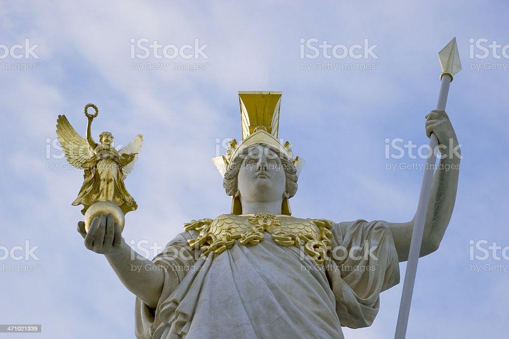 the greek goddesses athene and nike stock photo