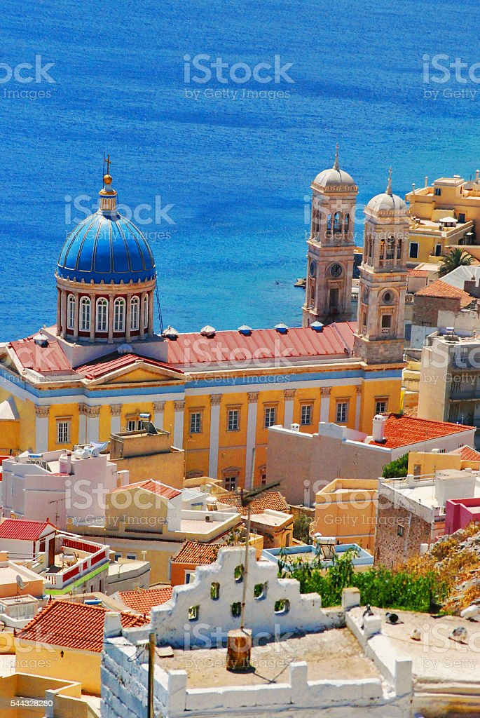 The Greek Island of Syros stock photo