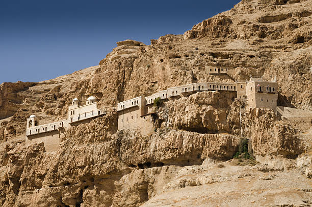 The greek monastery in Jericho The greek monastery in Jericho, Palestine temptation stock pictures, royalty-free photos & images