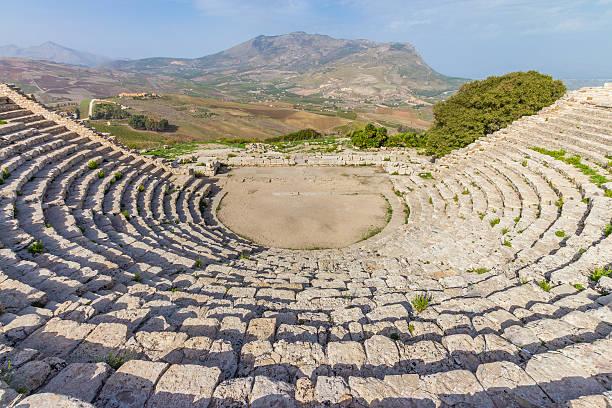 Das griechische Theater von Segesta in Sizilien, Italien – Foto
