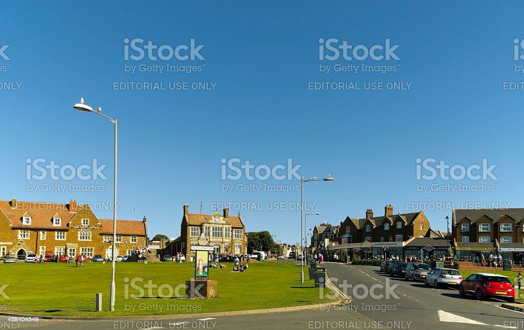 The Green at Hunstanton, Norfolk royalty-free stock photo