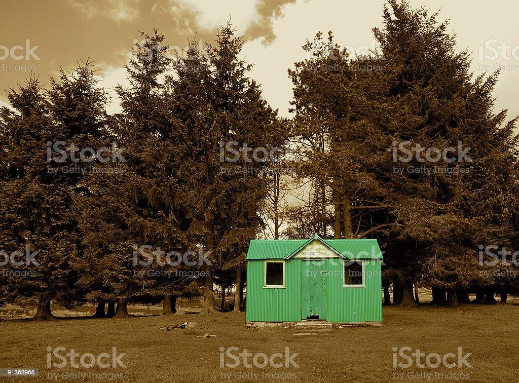 The green bothy  Bothy Stock Photo