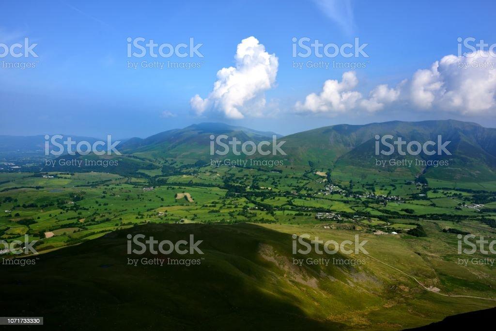 The green fields of Threlkeld stock photo