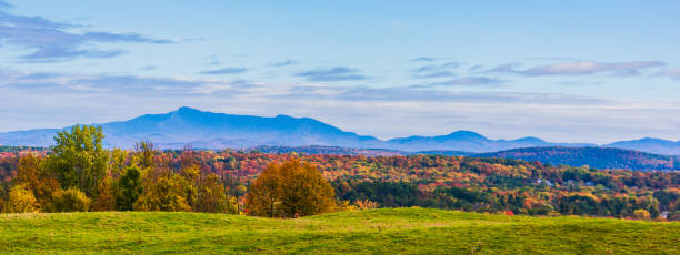 The green Mountains of Vermont stock photo