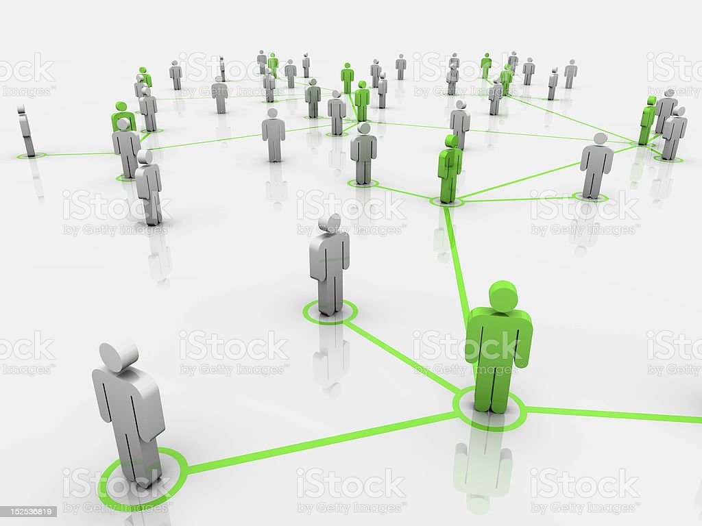 The Green Network A network of green people. Adult Stock Photo