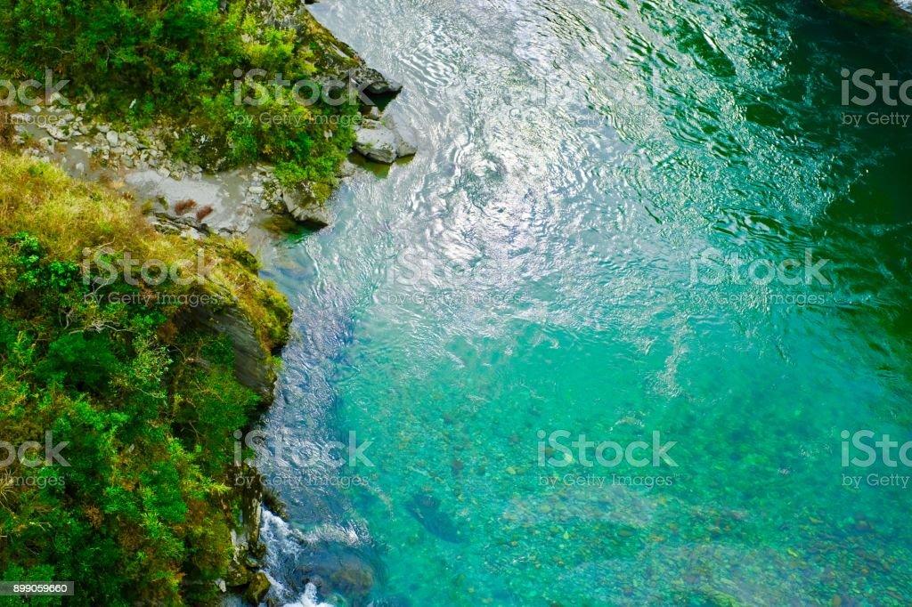 The green river view in Oboke,Japan stock photo