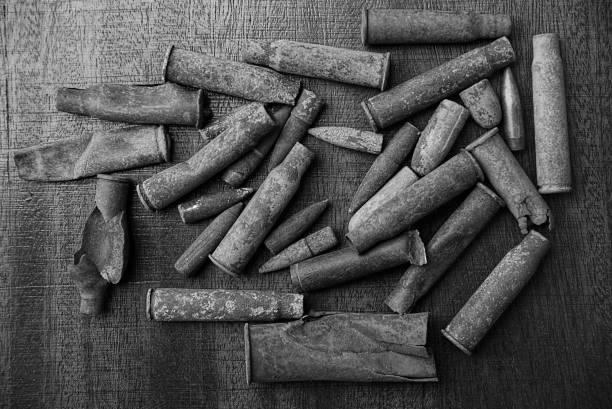 O fundo cinza dos cartuchos antigos - foto de acervo
