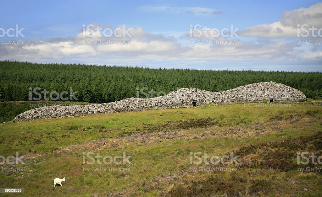 The Grey Cairns of Camster in Caithness, Scotland royalty-free stock photo