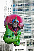 The Grinch in the Macy's Thanksgiving Day Parade 2017.