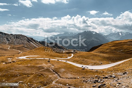 Grossglockner road surrounded by Austrian alps