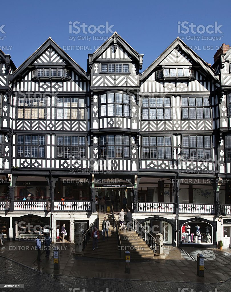 The Grosvenor Shopping Centre in Chester royalty-free stock photo