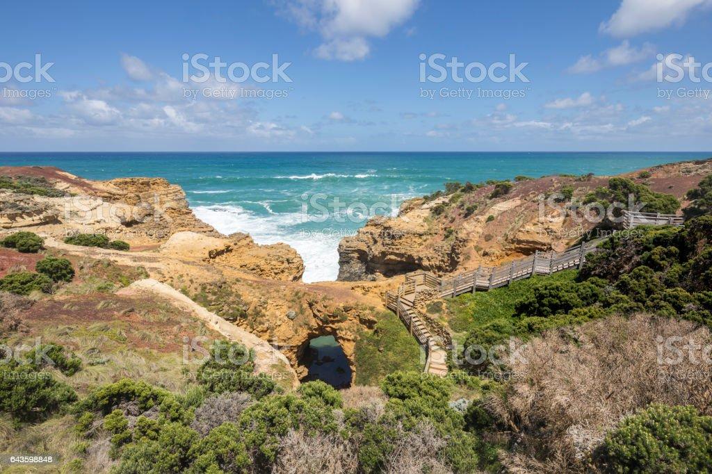 The Grotto, Great Ocean Road, Australia stock photo