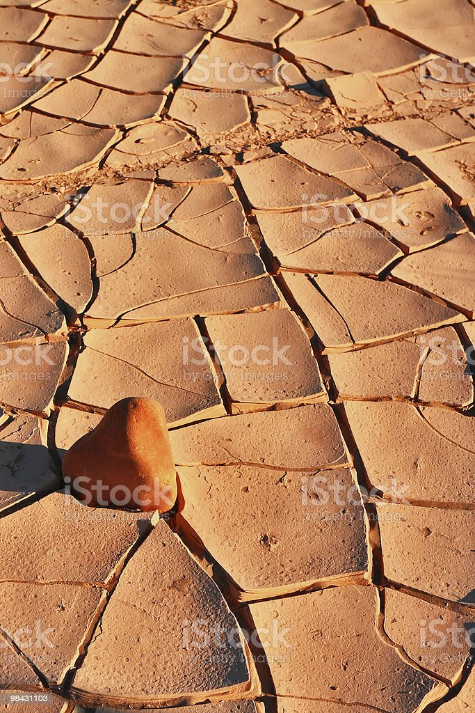 The ground in desert royalty-free stock photo