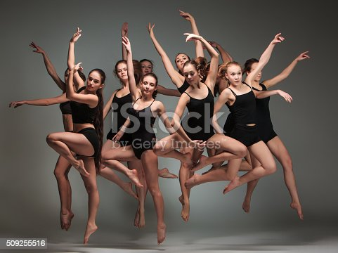istock The group of modern ballet dancers 509255516