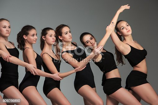istock The group of modern ballet dancers 509256850
