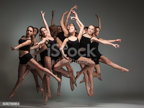 istock The group of modern ballet dancers 509256954