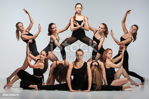 istock The group of modern ballet dancers 509288628