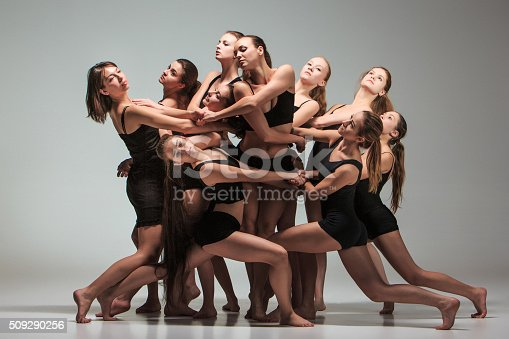 istock The group of modern ballet dancers 509290256