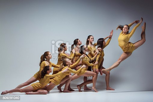 istock The group of modern ballet dancers 509291040